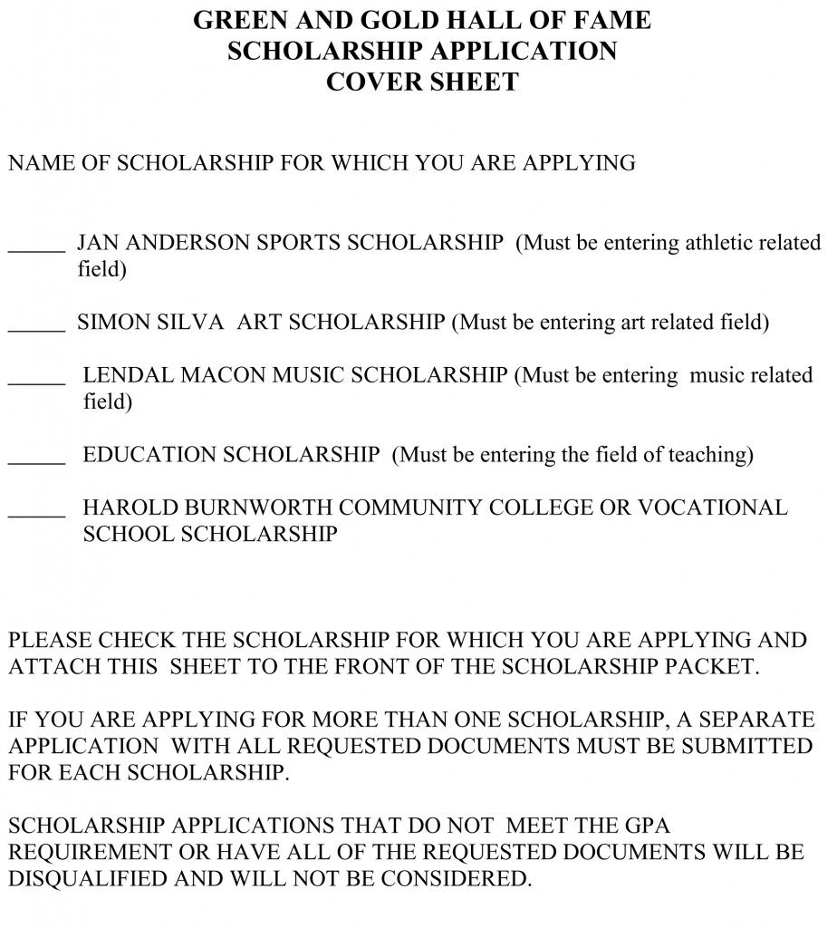 SCHOLARSHIP COVER SHEET-1 no dead line