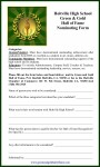 green and gold nominatiog form